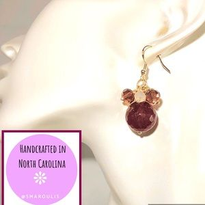 Frontrow.Style Jewelry - Sterling Silver Earring Jenna Boysenberry Crystal